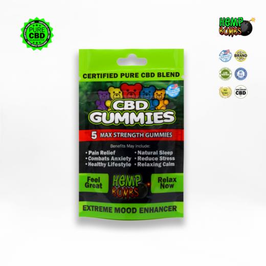 hemp bombs CBD gummies x5